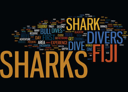 FIJI SHARKS Text Background Word Cloud Concept