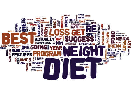 BEST DIETS TO LOSE WEIGHT Text Background Word Cloud Concept Ilustrace