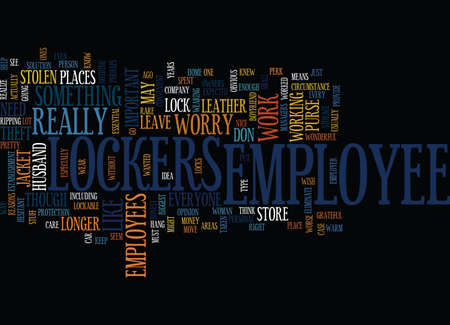 EMPLOYEE LOCKERS Text Background Word Cloud Concept