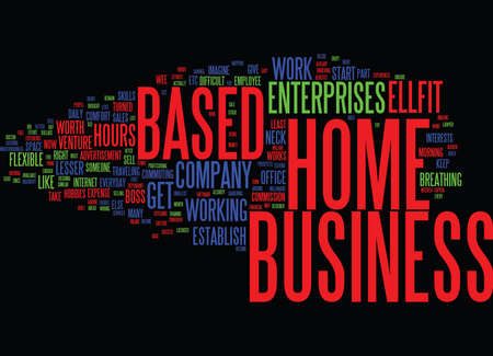 ESTABLISH YOUR HOME BASED BUSINESS Text Background Word Cloud Concept 向量圖像