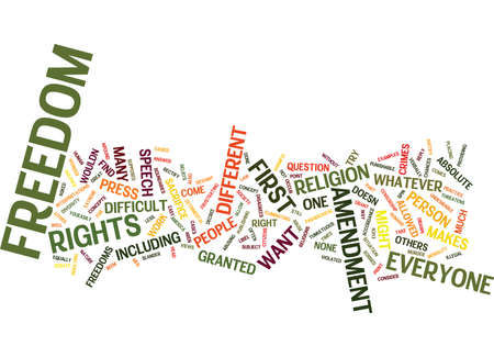 FIRST AMENDMENT Text Background Word Cloud Concept