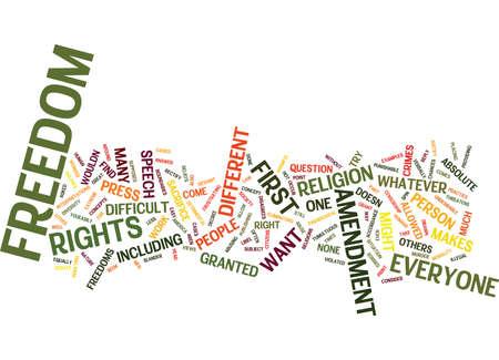 asked: FIRST AMENDMENT Text Background Word Cloud Concept
