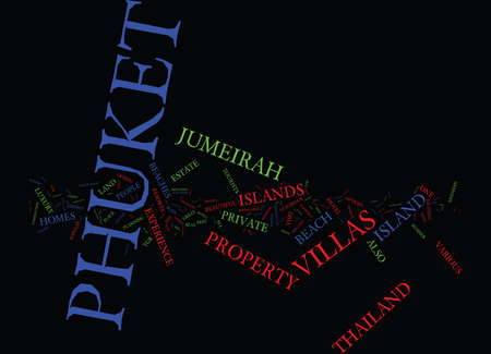ENJOY A GREAT EXPERIENCE AT PHUKET Text Background Word Cloud Concept 일러스트