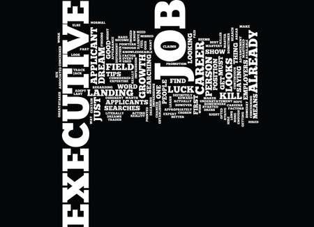 EXECUTIVE JOB SEARCH DLVY NICHEBLOWERCOM Text Background Word Cloud Concept