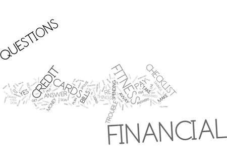 金融フィットネス チェックリスト本文背景単語雲概念  イラスト・ベクター素材
