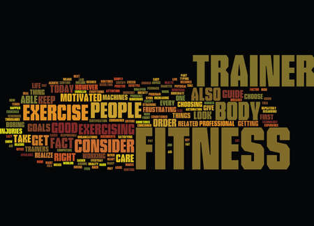 FITNESS TRAINER Text Background Word Cloud Concept