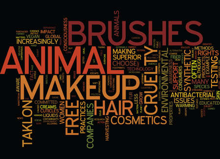 ENVIRONMENTAL CONSCIOUSNESS EXTENDS TO MAKEUP BRUSHES Text Background Word Cloud Concept
