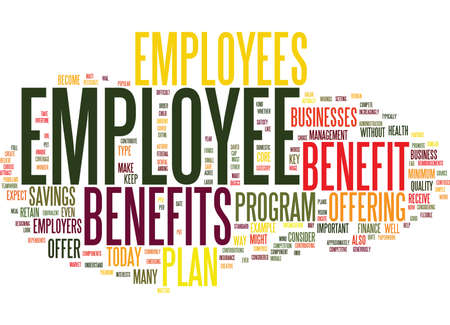 EMPLOYEE BENEFITS Text Background Word Cloud Concept