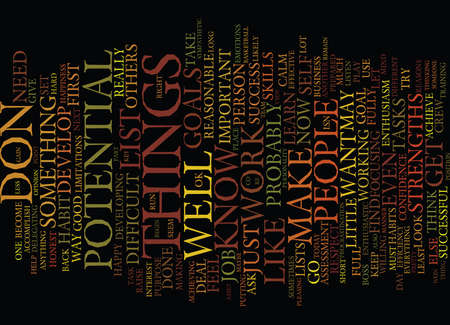 FIND YOUR GREATEST POTENTIAL Text Background Word Cloud Concept Çizim
