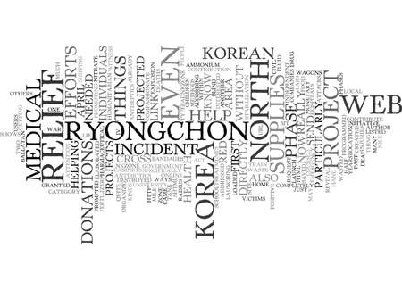 EFFORTS THROUGH THE WEB THE RYONGCHON RELIEF PROJECT Text Background Word Cloud Concept Иллюстрация