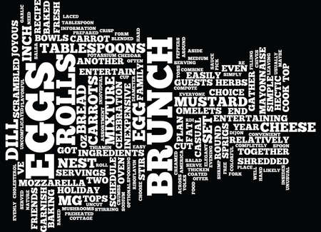 ENTERTAIN EASILY AT BRUNCH Text Background Word Cloud Concept