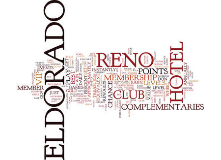 ELDORADO RENO Text Background Word Cloud Concept Çizim