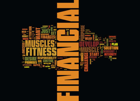 FITNESS VIDEO Text Background Word Cloud Concept