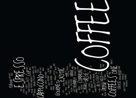 최고의 음식 커피 텍스트 배경 단어 구름 개념