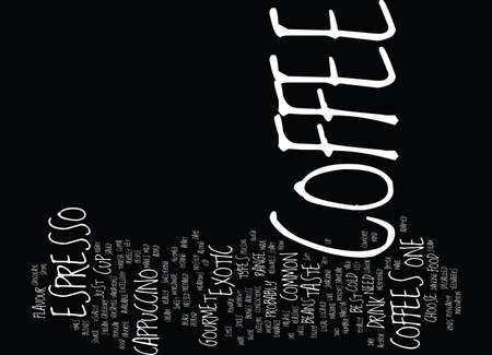 BEST GOURMET COFFEE Text Background Word Cloud Concept