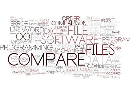 FILE COMPARE TOOLS TO SERVIVE Text Background Word Cloud Concept Illustration
