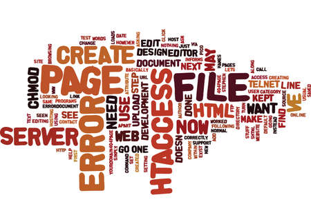 ERROR PAGES WHAT ARE THEY AND HOW DO YOU CREATE ONE Text Background Word Cloud Concept