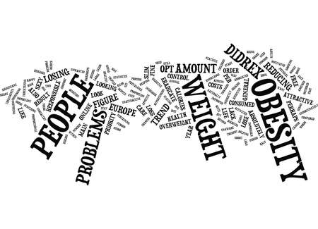 ERADICATE YOUR OBESITY PROBLEMS WITH DIDREX Text Background Word Cloud Concept