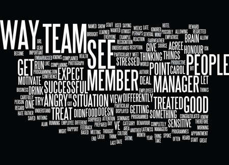 EMPLOYEES TREAT THEM THE WAY THEY EXPECT TO BE TREATED Text Background Word Cloud Concept