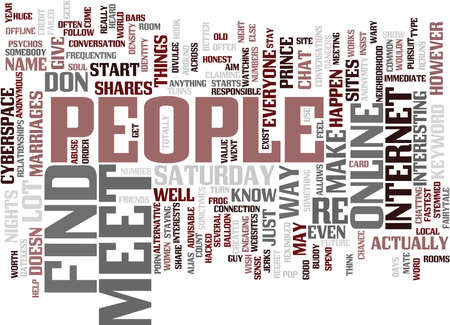 FIND AND MEET PEOPLE Text Background Word Cloud Concept