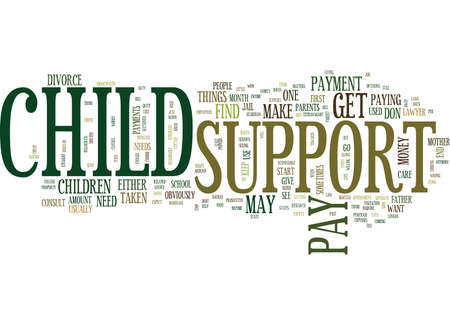 FIND OUT ABOUT CHILD SUPPORT Text Background Word Cloud Concept