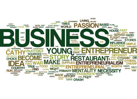 ENTREPRENEURIALISM AND THE DWARF HOUSE Text Background Word Cloud Concept Illusztráció