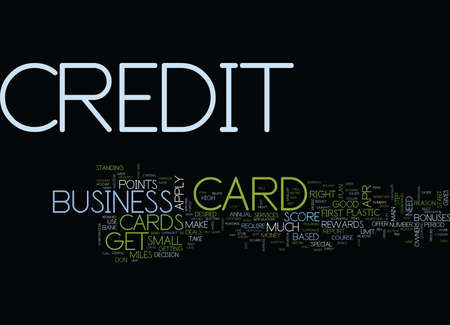 FIRST BUSINESS CREDIT CARD Text Background Word Cloud Concept