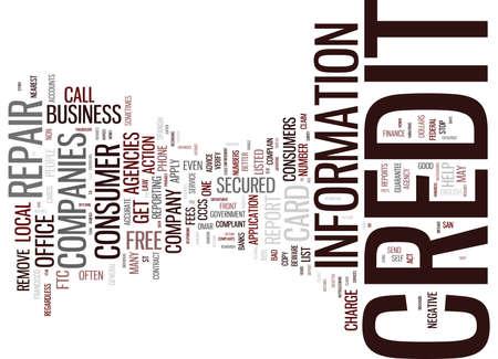 beware: BEWARE OF BOGUS CREDIT REPAIR COMPANIES Text Background Word Cloud Concept Illustration