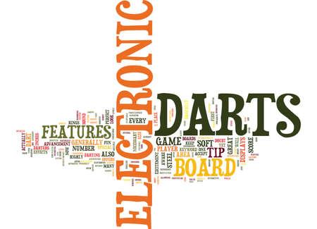 ELECTRONIC DARTS Tekst Achtergrond Word Cloud Concept