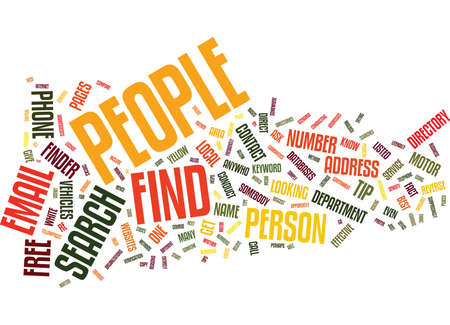 listings: FIND PEOPLE Text Background Word Cloud Concept Illustration
