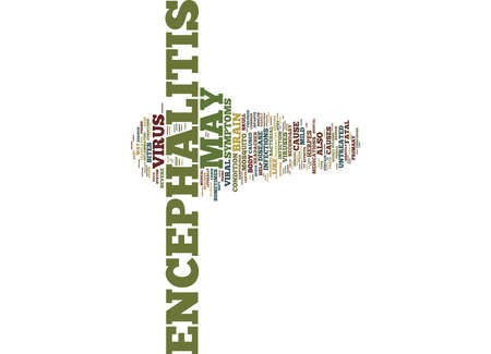 ENCEPHALITIS A BRIEF OVERVIEW Text Background Word Cloud Concept