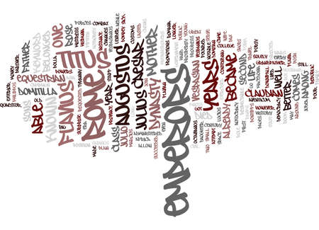 EMPERORS OF ROME Text Background Word Cloud Concept Çizim