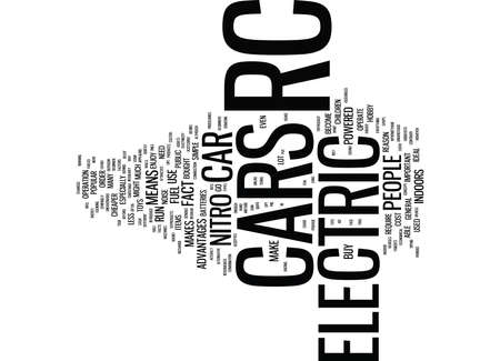 ELECTRIC RC CAR Text Background Word Cloud Concept
