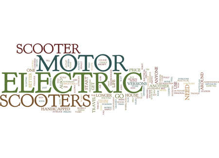 ELECTRIC MOTOR SCOOTER Text Background Word Cloud Concept Ilustração