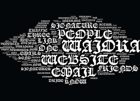 EMAIL SIGNATURES FOR YOUR WAIORA WEBSITE Text Background Word Cloud Concept