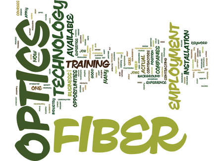 EMPLOYMENT IN FIBER OPTICS Text Background Word Cloud Concept Banco de Imagens - 82598764