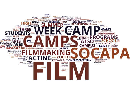 FILM CAMP Text Background Word Cloud Concept