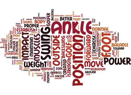compensatory: FOOTPOWER FOR GOLF Text Background Word Cloud Concept