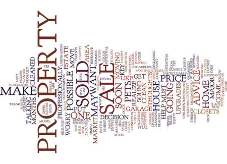 FROM FOR SALE TO SOLD Text Background Word Cloud Concept