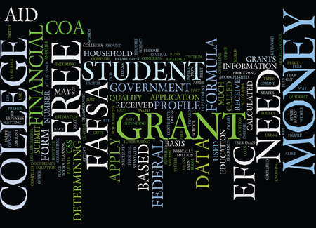 FREE GRANT MONEY FOR COLLEGE Text Background Word Cloud Concept