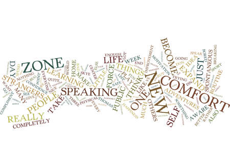 FIVE WAYS TO EXPAND YOUR COMFORT ZONE Text Background Word Cloud Concept
