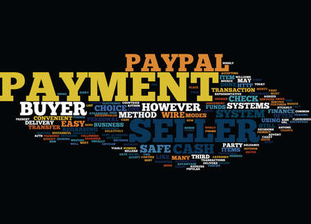 paypal: FOUR PAYMENT METHODS Text Background Word Cloud Concept