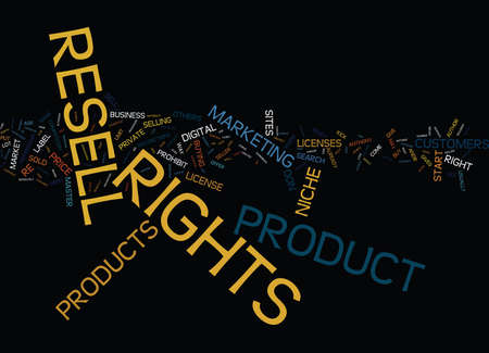 GIVE YOUR NICHE BUSINESS A KICK START WITH RESELL RIGHTS Text Background Word Cloud Concept