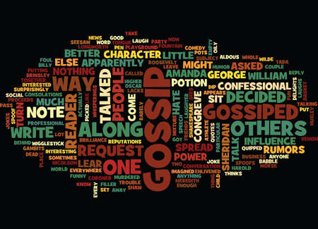 GOSSIP WHAT PEOPLE SAY ABOUT IT Text Background Word Cloud Concept Stock Illustratie