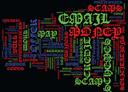 FTC NAMES DIRTY DOZEN EMAIL SCAMS Text Background Word Cloud Concept
