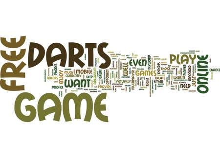FREE DARTS GAME Text Background Word Cloud Concept
