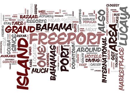 フリーポート バハマ テキスト背景単語の概念はクラウドで