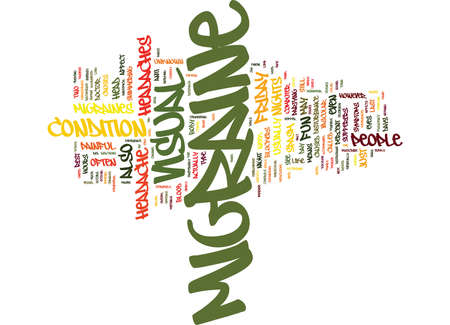 FRANTIC FRIDAY FOR MIGRAINE SUFFERERS Text Background Word Cloud Concept