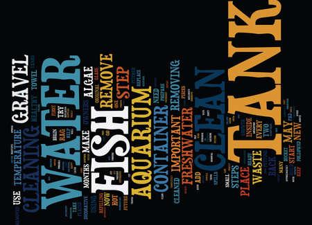 FRESHWATER AQUARIUM CARE Text Background Word Cloud Concept Illustration