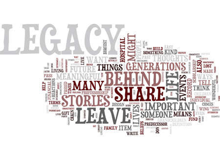 FIVE TIPS TO DESIGN YOUR LEGACY Text Background Word Cloud Concept